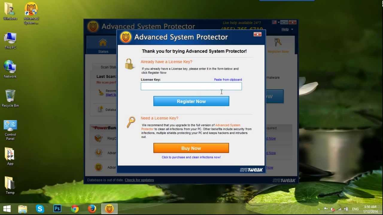 system protector license key 2014