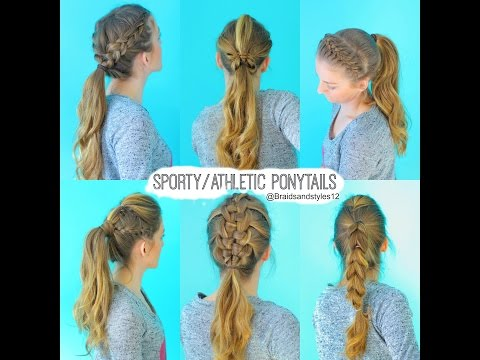 6 Quick and Easy Sporty/Athletic/Workout Hairstyles | Braidsandstyles12
