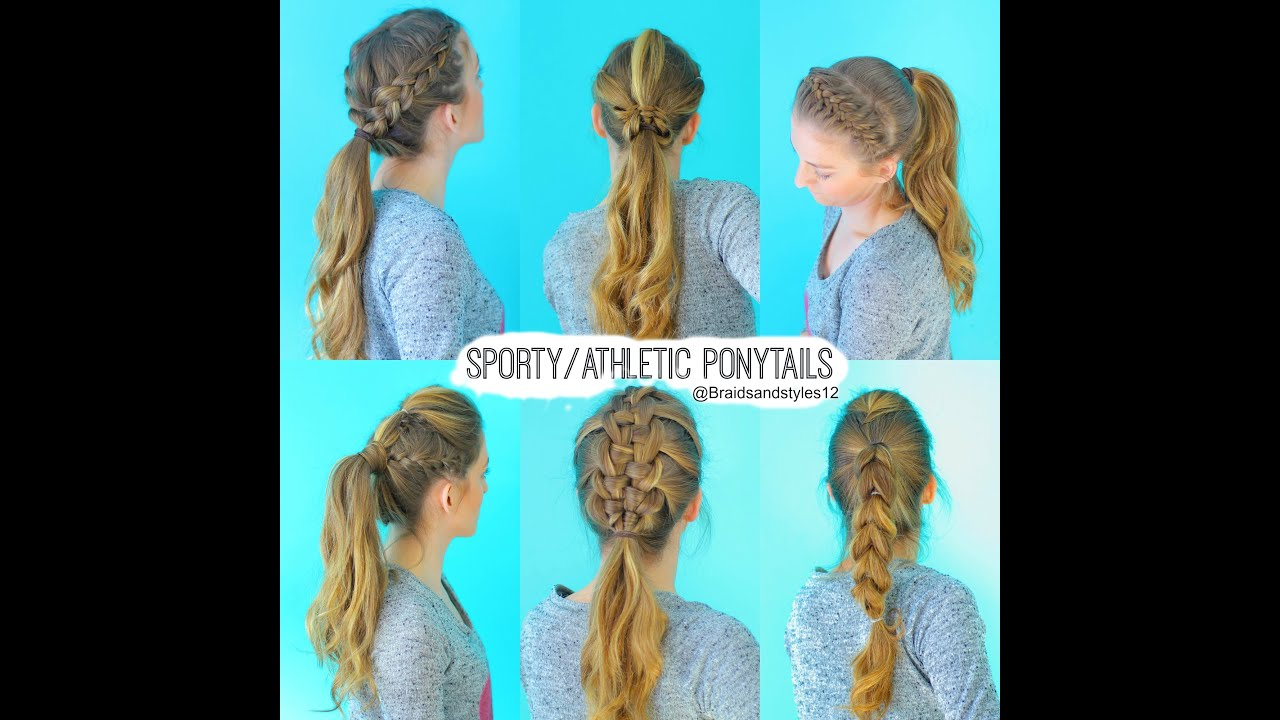 6 quick and easy sporty/athletic/workout hairstyles   braidsandstyles12