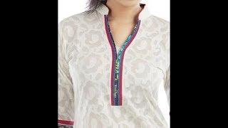 kurti collar neck design cutting and stitching