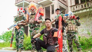 NERF WAR : Dangerous Task Warriors SWAT Nerf Guns Fight Criminal Group Mask