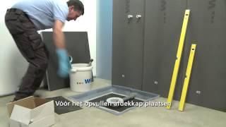 Inloopdouche Fundo in betonnen vloer inbouwen