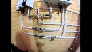видео Отопление деревянного дома своими руками: разводка, монтаж, способы
