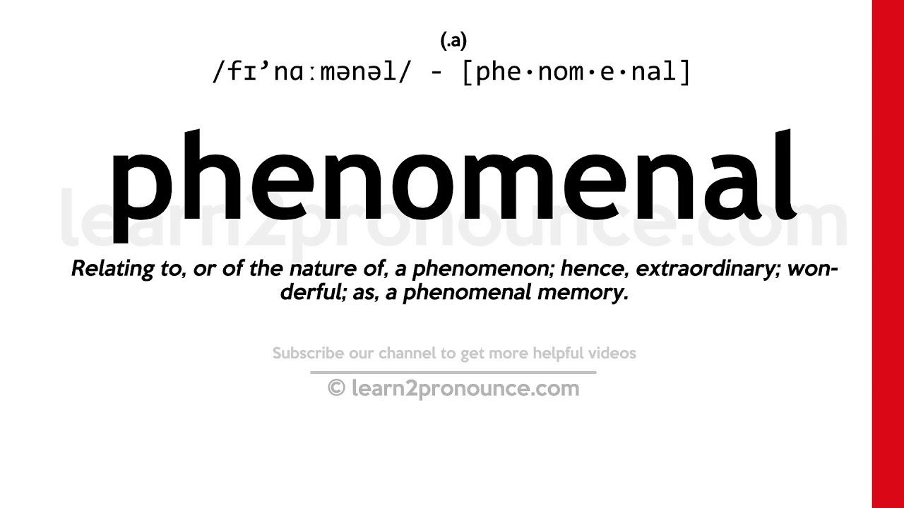 How to pronounce Phenomenal  English pronunciation