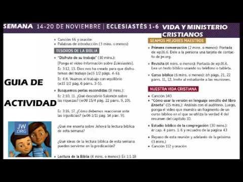 Semana 14 20 Noviembre 2016 Guía De Actividades Vida Y Ministerio Cristianos