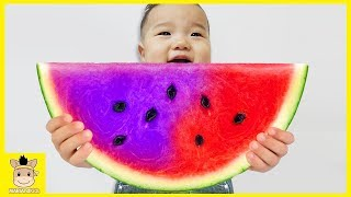 Learn Colors with Fruit Colorful Watermelon Kids Nursery Rhymes Song for Children | MariAndKids Toys