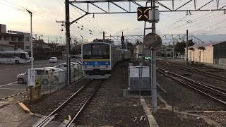 富士急 普通列車 富士山駅 出発