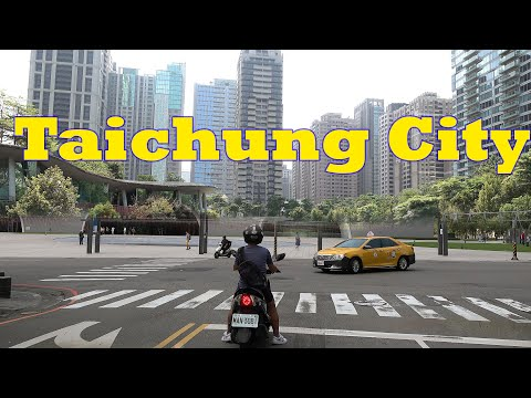 Taichung Taiwan 4K.  Second Largest City in Taiwan. Better than Taipei?
