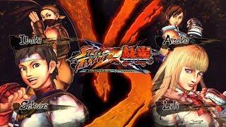 Sakura/Ibuki VS Lili/Asuka - Street Fighter X Tekken (PC) Gameplay