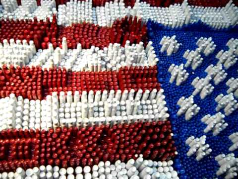 American Flag Made From Bullet Shells