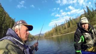 Рыбалка на р.Кизир , выше 4-го порога.(Восточный Саян) 3/3.