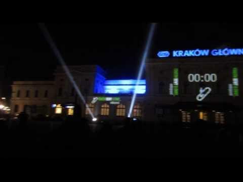 Kraków Główny underground (3d mapping) prezentacja multimedialna