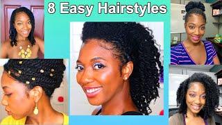 8 Easy Hairstyles For Mini/Medium Twists   A Week Of My Hair