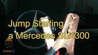 ▶️▶️don't wait for a tow truck or aaa, let me show you how to safely jump start 2004 2005 2006 2007 2008 2009 2010 mercedes slk300 slk350 slk550 slk280 slk20...
