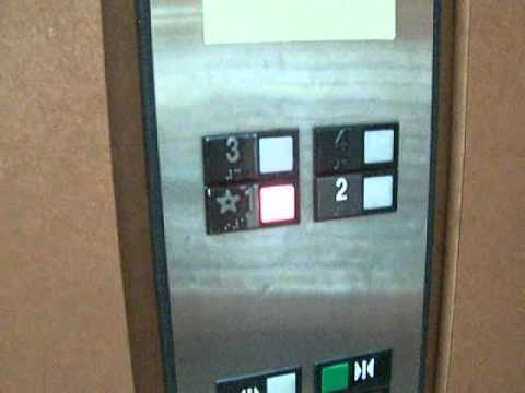 Garage Parking Stop >> Older Otis Elevator with Red and White Call Indicators at ...