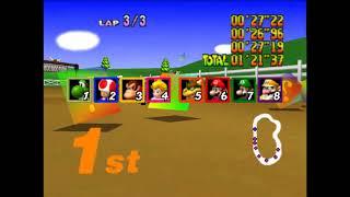 Mario Kart 64 NEW Speedrun by windows10acerpc [CPU no items and no shortcuts] Mushroom Cup