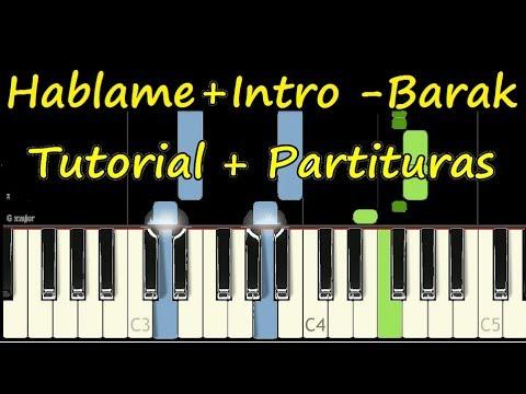 DIOS HABLAME BARAK Piano Tutorial Cover Facil + Partitura PDF Sheet Music Easy Midi thumbnail