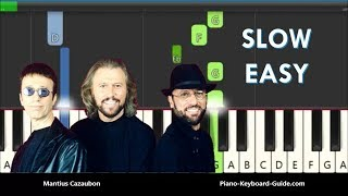The Bee Gees How Deep Is Your Love Slow Easy Piano Tutorial