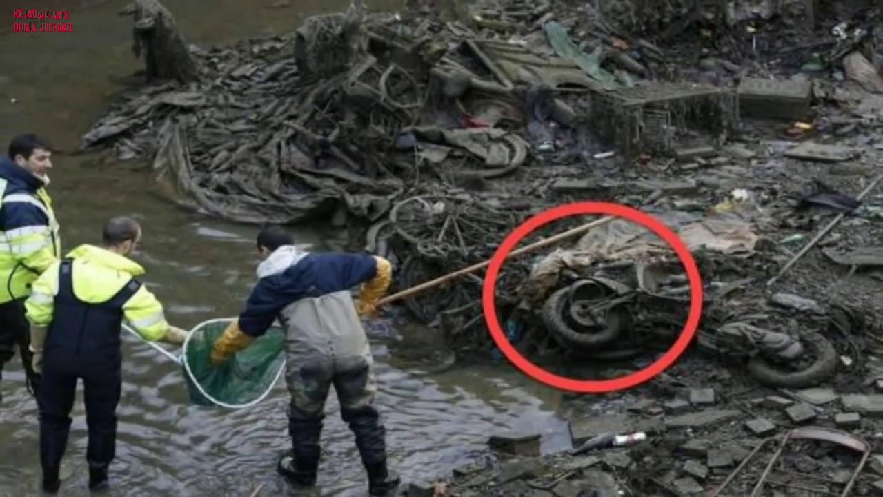 Mereka terkejut saat menguras kanal,! apa yg ditemukan sungguh di luar dugaan,!!