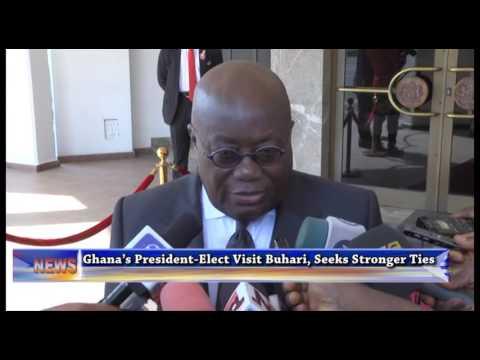Ghana President-Elect Visits President Buhari, Seeks Stronger Bilateral Collaboration