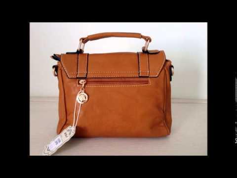 268dc7cbe Bolsa Feminina Pequena de Couro Ecológico - Caramelo - YouTube
