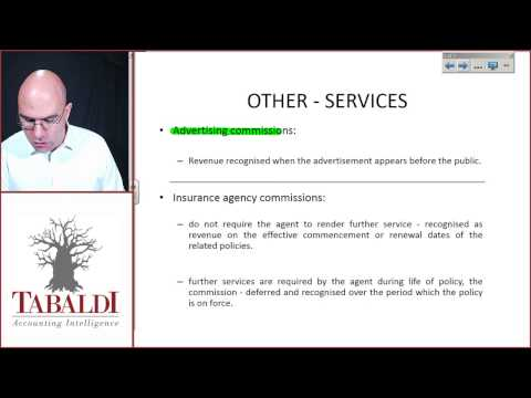 IAS18-Illustrative examples accompanying IAS 18 services rendered