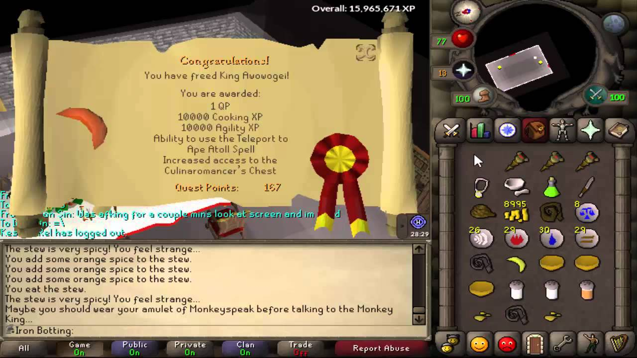 Iron Botting Project Ironman Osrs Episode 4 Rfd Graceful Black Mask Void Mace Youtube Obtaining a quest cape has never been easier. youtube