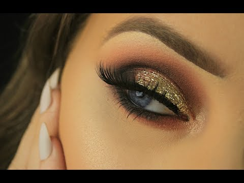 Gold Glitter Summer Smokey Eye | Coral Lip | Eimear McElheron thumbnail