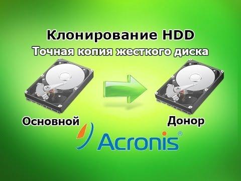 Как клонировать жесткий диск (HDD) с помощью Acronis True Image 2013