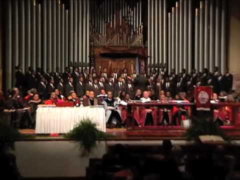 Morehouse Glee Club Sings I'm Building Me A Home