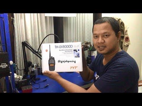 Unboxing Dan Tes Pancaran Power HT TYT TH-UV8000D