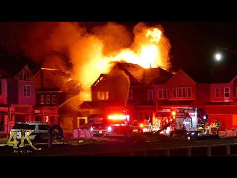 Brampton: Homes under construction well involved in fire 3-29-2017
