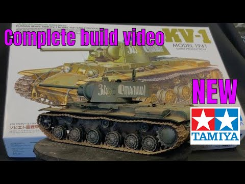 Tamiya  100% All New Tooled 1/35 KV 1 Russian Tank Complete Build Painting And Weathering.