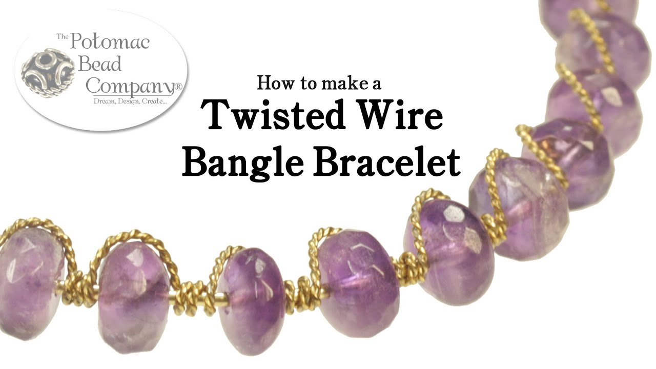 Make a Twisted Wire Bangle Bracelet - YouTube