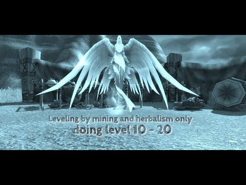 World of Warcraft - leveling by mining and herbalism level 10-20 widescreen