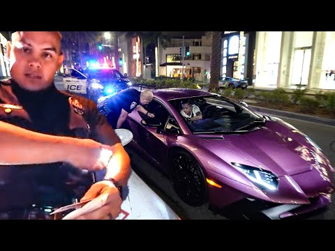 "BEVERLY HILLS POLICE ""OFFICER PENA"" HATES LAMBORGHINI'S  ... *RAW UNCUT*"