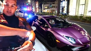 "BEVERLY HILLS POLICE ""OFFICER PENA"" HATES LAMBORGHINI'S  ... *RAW UNCUT*"