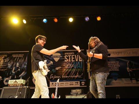 Steve Vai - Master Class Curitiba - Jam Session - Brazilian Guitar Player Airton Mann 2015 Brasil