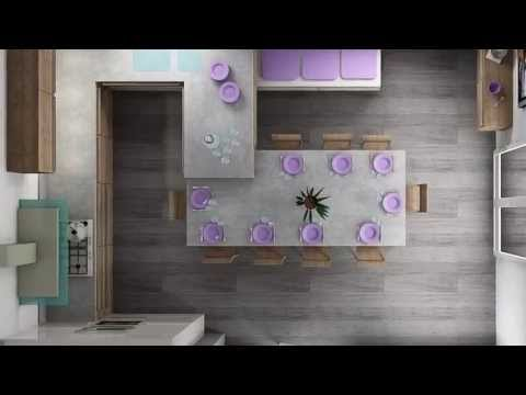 Vichy cuisine moderne design dressing id e projet 3d youtube - Idee dressing ...