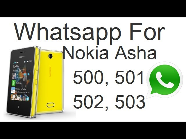 Download And Install Whatsapp For Nokia Asha 501 502 503 And 500 Demo And Installation Guide Youtube