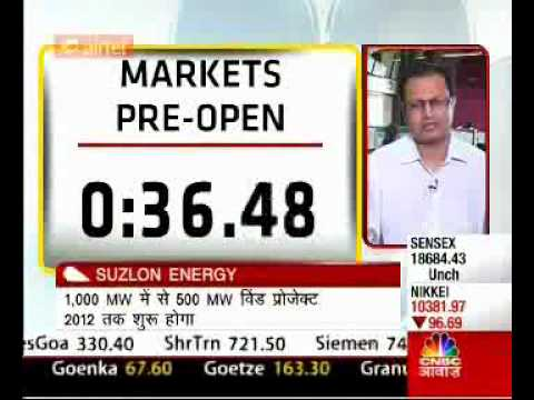 Suzlon Energy-Market Pre-open Session with CNBC Awaaz