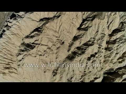 Lacustrine ancient lake deposits in Spiti Valley - clay and silt formed by running water