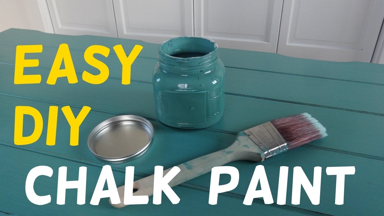 Make Your Own Chalk Paint Cheap Easy Recipe Youtube