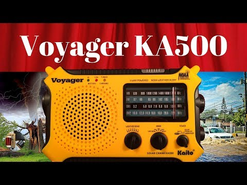Kaito Voyager KA500 AM FM SW WB Emergency Radio Review