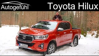 Toyota Hilux FULL REVIEW Executive 2.4 onroad vs offroad comparison - Autogefühl