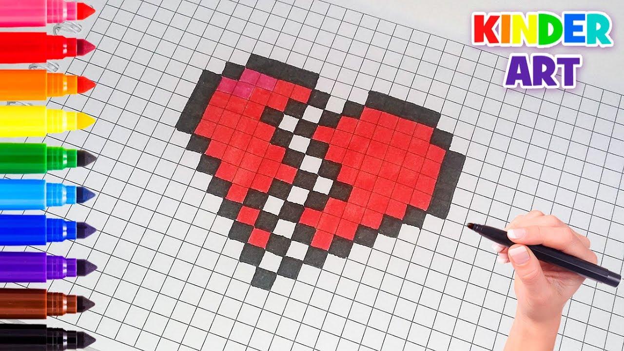 Broken Pixels: Рисунки по клеточкам - Разбитое сердце