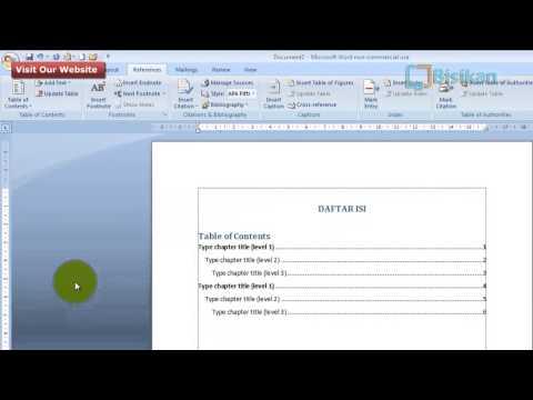 Cara Mudah Membuat Titik-Titik Daftar Isi Pada Microsoft Word