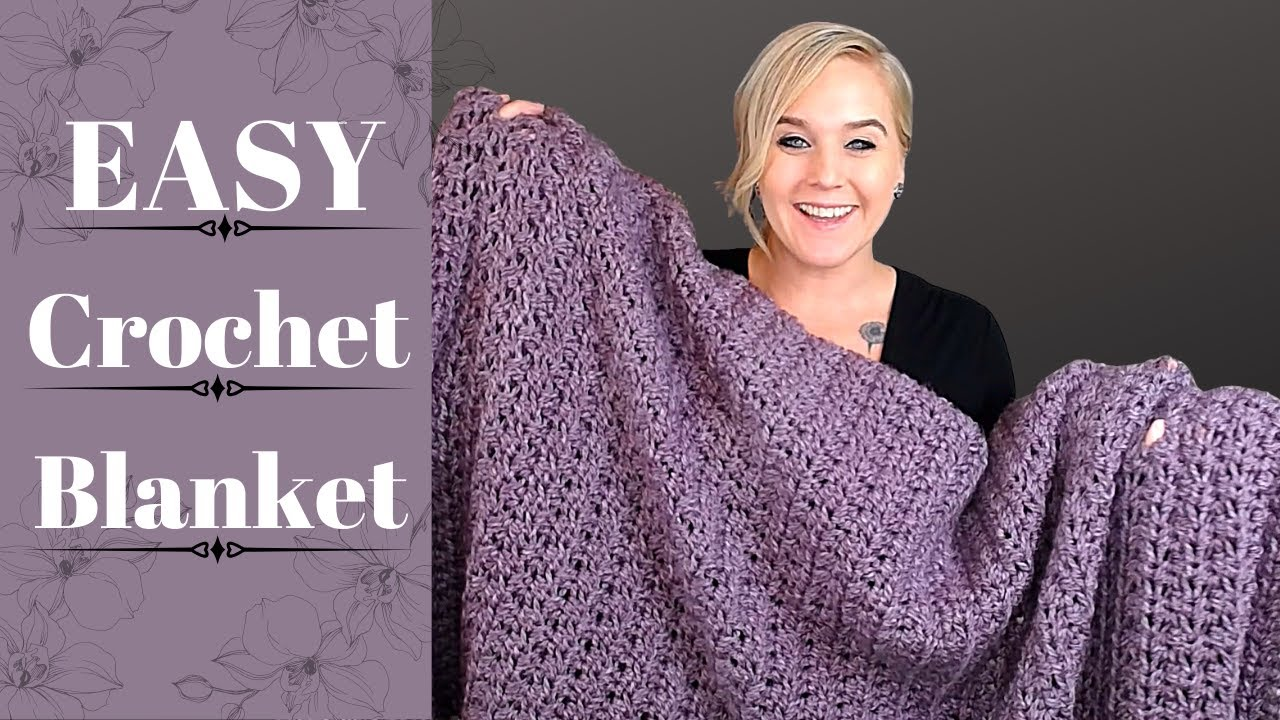 FAST and EASY Crochet Blanket: The Sugar Plum Fairy Blanket