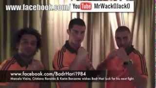 Cristiano Ronaldo, Marcelo Vieira and Karim Benzema wishes Badr Hari luck for his next fight