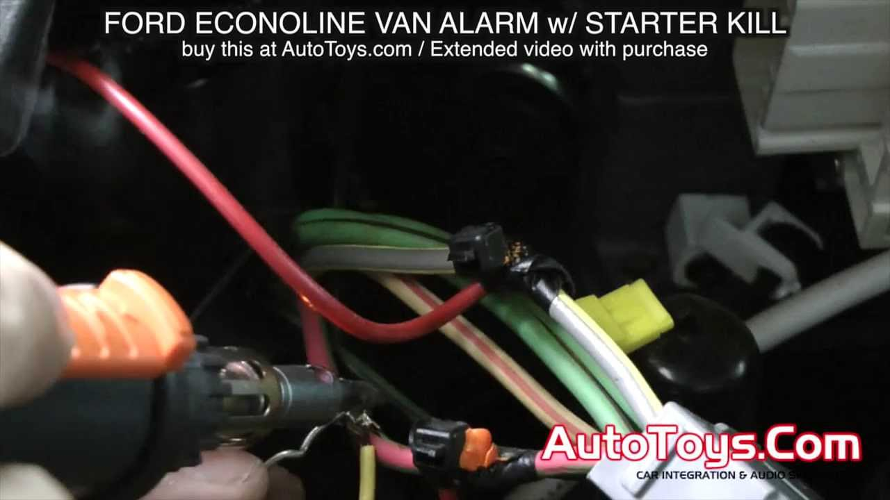 viper remote start wiring diagram rv power cord ford van alarm system with starter kill econoline e avital youtube